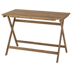 IKEA - ASKHOLMEN, Table, outdoor, foldable light brown stained light brown grey-brown stained, Takes little room to store as the table folds flat. Furniture For You, Garden Furniture, Outdoor Furniture, Outdoor Dining, Outdoor Tables, Wood Supply, Small Outdoor Spaces, Patio Table, Dining Table
