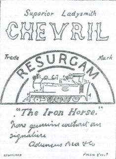 Chevril label sourced by Talana Museum Label, Museum, War, Personalized Items, Museums