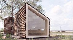 Casas modulares y prefabricadas de diseño: mini casa de madera en la playa
