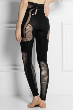 McQ Alexander McQueen - Stretch & mesh leggings