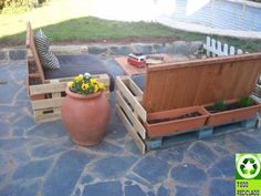 Muebles hechos con palets on pinterest old pallets - Sofas para terrazas ...