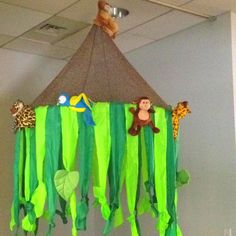 Decoration for a reading rainforest