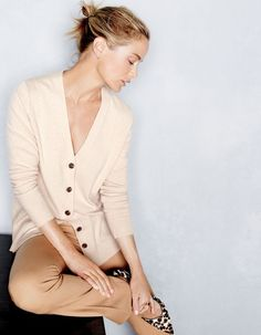 J.Crew all cream / nude outfit for a casual luxe vibe