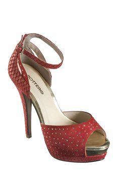 #Sandália vermelha cheia de glamour ;)