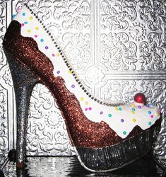 cupcake heels by STEAMHATTER on Etsy, $85.00