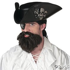 Sail the seven seas in this brown shaggy pirate beard featuring an attached mustache. (Beard only.) The Captain Beard, Pirate Beard, Brown Beard Costume Wigs, Costume Shop, Beard No Mustache, Pirate Costume Accessories, Halloween Accessories, Captain Costume, Brown Beard