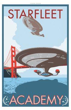 Star Trek/Starfleet Academy propaganda poster illustrated by Damon Boreing :: via etsy.com