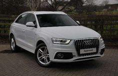 Used 2013 (13 reg) Glacier White Metallic Audi Q3 2.0 TDI Quattro S Line 5dr for sale on RAC Cars