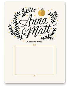 Pretty stationery by Danielle Davis  OMG .. apparently there is another Anna and Matt!