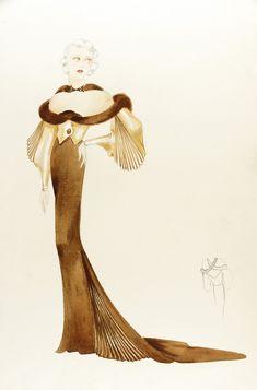Risultati immagini per orry kelly sketches Theatre Costumes, Ballet Costumes, Movie Costumes, Cool Costumes, Fashion Sketches, Fashion Illustrations, Retro Illustrations, Fashion Drawings, 1930s Fashion