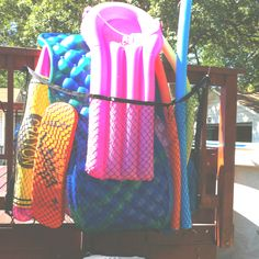 Pool Float Storage Ideas pool float storage ideas Pool Toy Storage On The Cheap