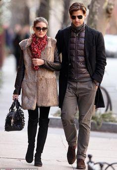 Olivia Palermo wearing Hugo Boss bag Christian Dior Diorzeli Cat Eye Sunglasses Stuart Weitzman 50/50 boots
