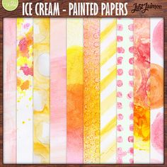 Ice Cream Painted Mixed Media Papers by Just Jaimee Designs!  April's BYOC at The Lilypad!  Grab any of the BYOC before the end of the weekend and you'll save 20% off!