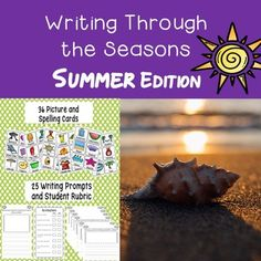 This writing package is a great addition to your writing station or Work on Writing Daily 5 rotations. There is a series of 36 summer related picture cards with spelling words that can be cut out, laminated and placed on a binder ring or on a bulletin board at the writing station.As the students gear up for summer and nice weather, help get them excited with the following 25 writing prompts.