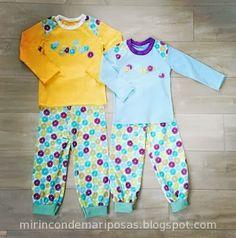mi rincón de mariposas: Pijama unisex (con patrón de pantalón)