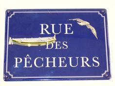 Plaque Métal Rue Des Pecheurs
