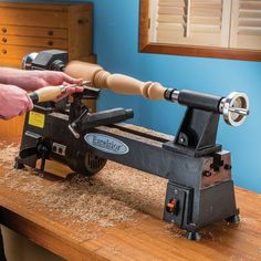 Most current Photos holzarbeiten werkstatt Thoughts , Excelsior Wood Turning Lathe, Wood Turning Projects, Wood Projects, Rockler Woodworking, Woodworking Crafts, Woodworking Projects, Woodworking Videos, Best Wood Lathe, Small Lathe