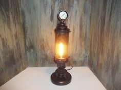 Steampunk Industrial Fantasy inspired lamp (The Pthumerian) by SalvagedCoolness on Etsy