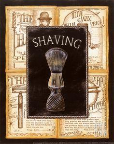 Grooming Shaving Print by Charlene Audrey at eu.art.com
