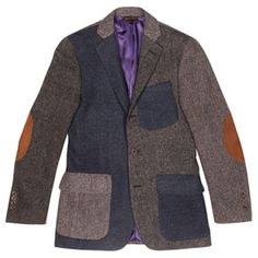 Epaulet Harris Tweed Mashup sportcoat - a little crazy but would be oh so awesome to wear