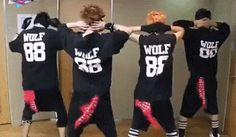 So I was just on Tumblr when I saw four wiggling tails of EXO:) Brace yourself's it's a Xiumin bottom's up gif special:) First of all I must applaud Xiumin to which the derriere belongs:) Ne. Then next,the credit of creativity goes to minisoeks blog. They have the best Um' goodies. Forgive me in advance:) Or just Enjoy
