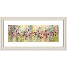 Buy Catherine Stephenson - Spring Floral Panel Framed Print, 55.5 x 110.5cm Online at johnlewis.com