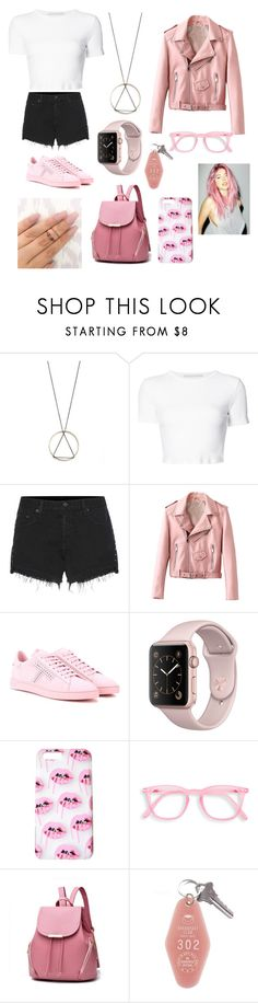 """Pink"" by bloodrose6 ❤ liked on Polyvore featuring South Moon Under, Rosetta Getty, rag & bone and Tod's"