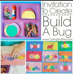 Living things- invitation to build a bug.