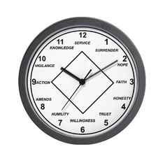 Narcotics Anonymous Gift Store | Narcotics Anonymous Clock Buy Clocks Cafepress - kootation.com