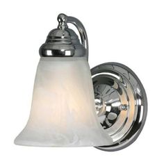 Illumine Centennial 1-Light Chrome Incandescent Wall Sconce-CLI-GO5222-1CH-MBL - The Home Depot