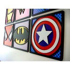 Super Heróis Avengers Batman Superman Placa Quadro Relevo - R$ 25,90 em Mercado Livre