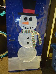 Our winter Door decoration for winter.