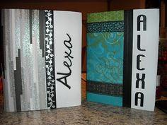 Short 'N Scrappy: School Book Covers