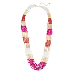 10 strand beaded necklace.