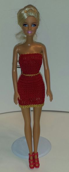 Christmas Cocktail Dress For Barbie by GrandmasGalleria on Etsy