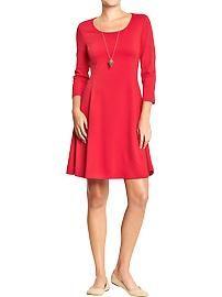 Women's  Ponte-Knit Fit & Flare Dresses