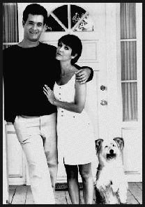 Tom Hanks, Carrie Fisher and Vince the dog in The 'Burbs 1989