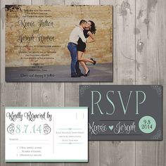 Kenzie Wedding Invitation Suite - DIY Printable Invitation & RSVP Set on Etsy, $30.00