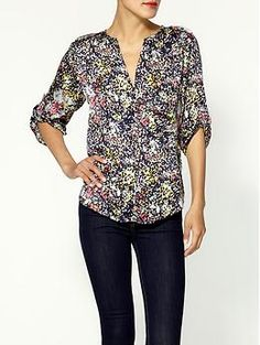 Collective Concepts Printed Blouse | Piperlime