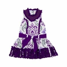 Trish Scully Child Purple Damask Princess Dress-Designer Girls Clothes only $59.99 - New Items