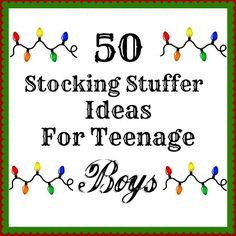 Silver Boxes: 50 Stocking Stuffers For Teenage Boys