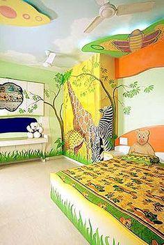 Another cute animal theme jungle safari bedding kids room