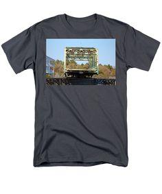 Surf City Men's T-Shirt (Regular Fit) featuring the photograph Swing Bridge Opening 2 by Cynthia Guinn