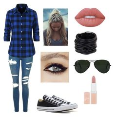 """""""Ainsley (casual)"""" by katethedancer ❤ liked on Polyvore featuring Topshop, Converse, Lime Crime, Saachi, Ray-Ban and Rimmel"""