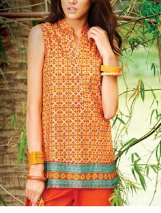 Latest Summer Lawn Kurti/ Tunics Trends Collection 2015-2016