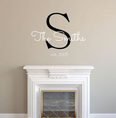 Personalized Family Name Wall Decal Sticker From Sticky Wall Vinyl - Custom wall vinyl lettering