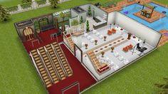 Sims freeplay wedding hall 1floor