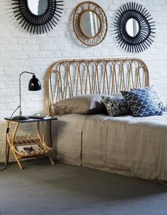 Tête de lit en rotin Kok Maison