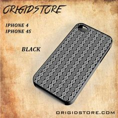 Aztec Indian Motiv Pattern Snap On Black White 3D For Iphone 4/4S Case