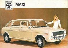 1968 Austin Maxi newspaper advertisement. This illustrates a trait which BL had at the time of trying to make the interior of the car the same colour as that of the outside, frequently with disastrous results